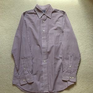 Croft & Barrow purple striped dress shirt